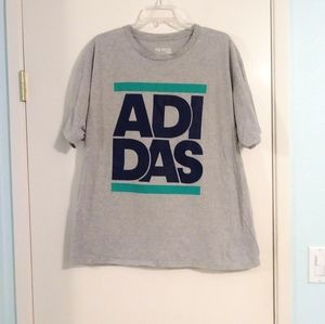 Adidas The Go-To Tee Big Logo Grey Tee Shirt